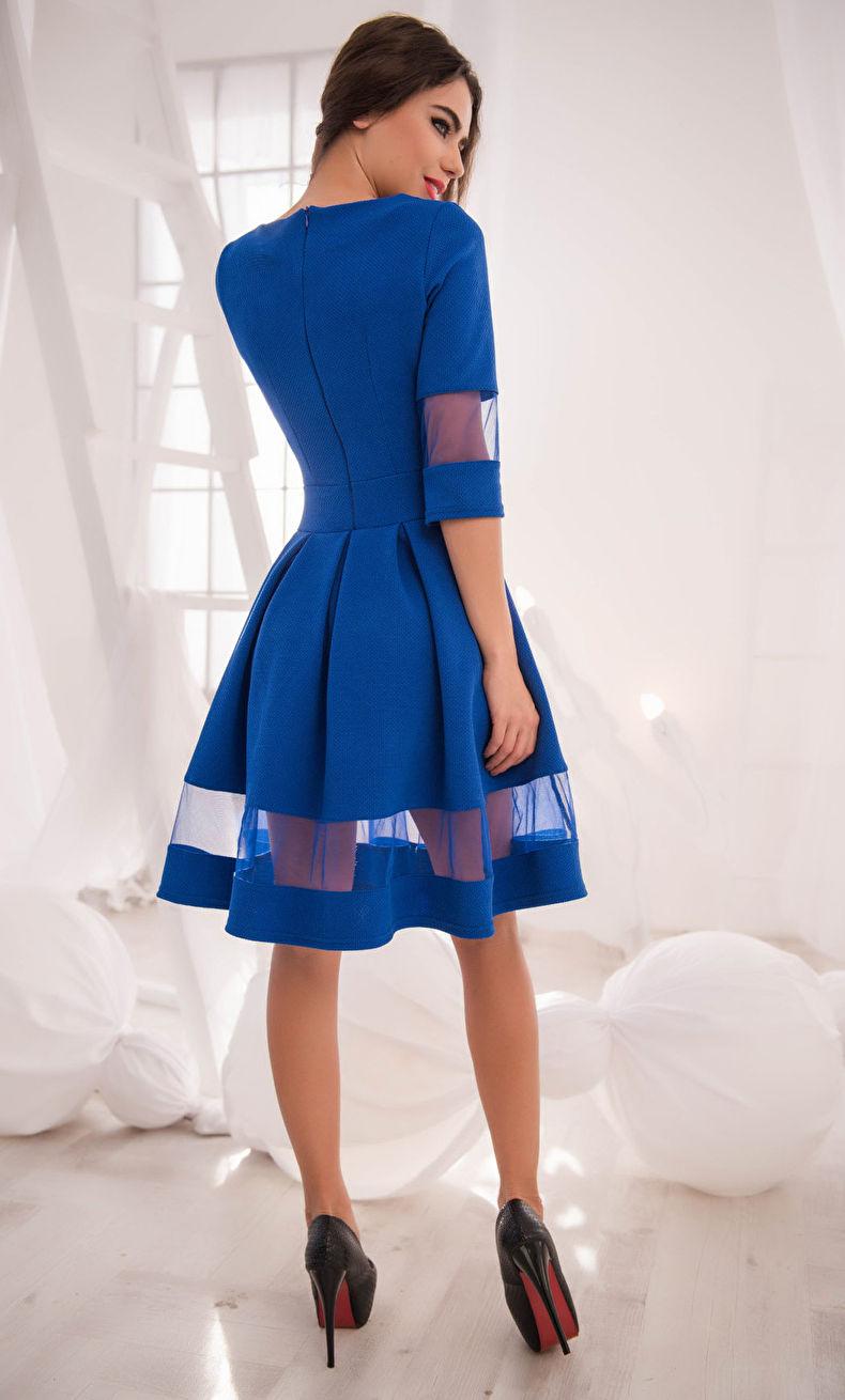 Украсить платье вставками из другого цвета или материала