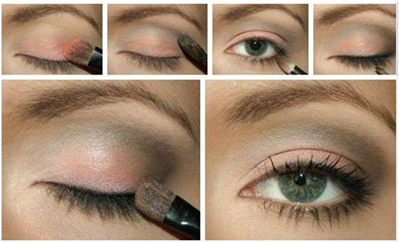 Дневной макияж для нависшего века