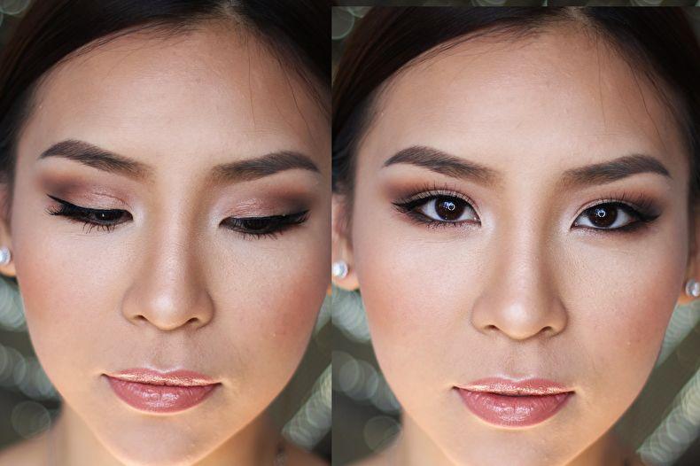 Азиатский макияж для нависшего века